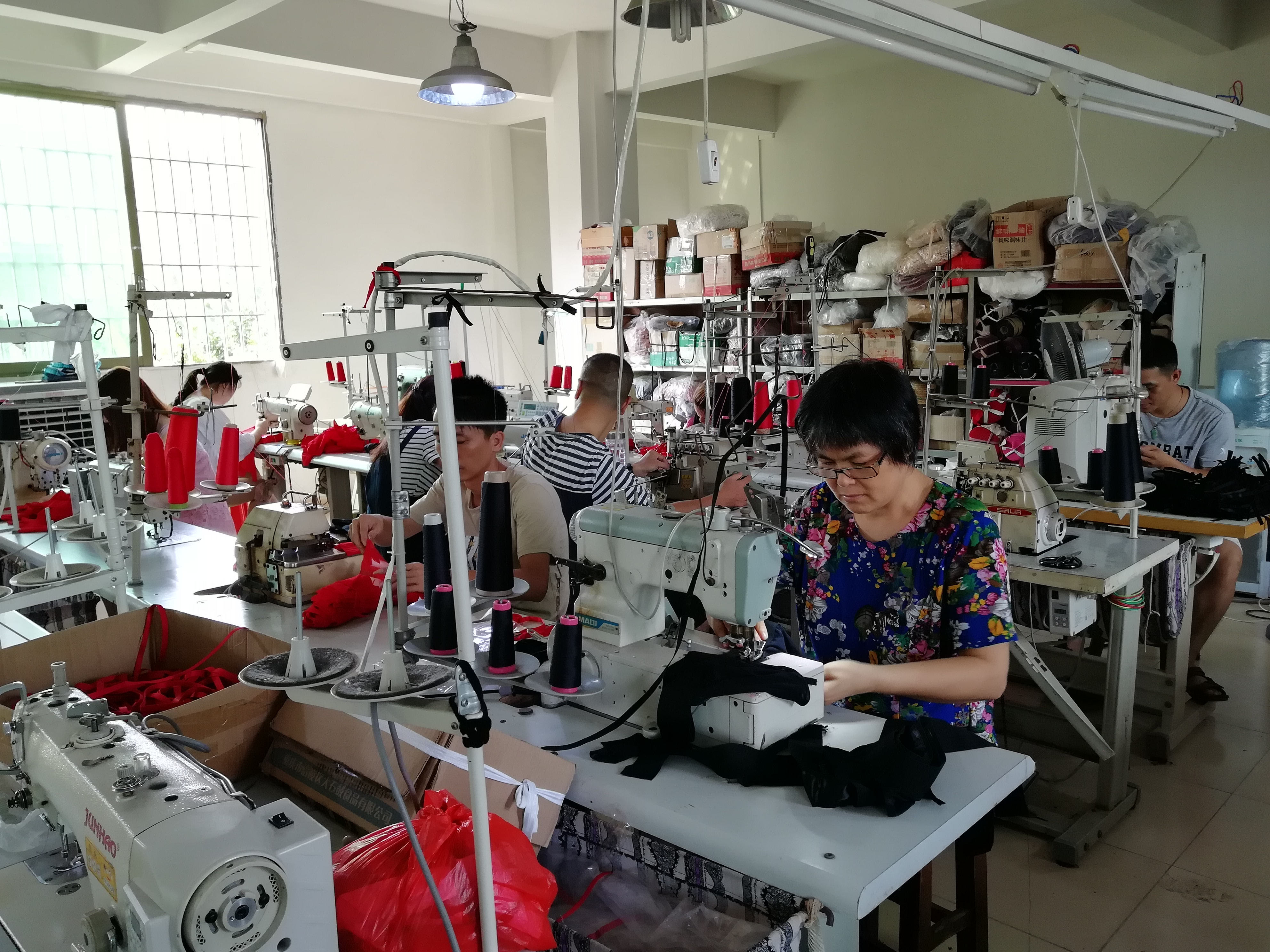 lingerie factory sewing room